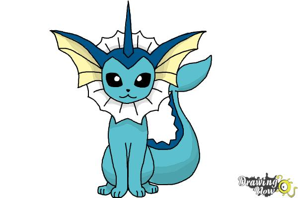 How To Draw Vaporeon From Pokemon