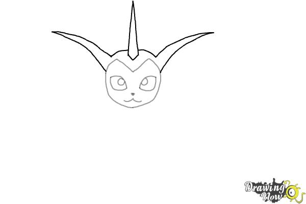 How to Draw Vaporeon From Pokemon - Step 4