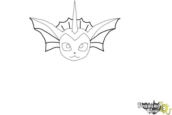 How to Draw Vaporeon From Pokemon - Step 5