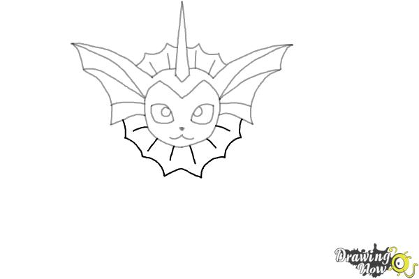How to Draw Vaporeon From Pokemon - Step 6