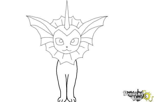 How to Draw Vaporeon From Pokemon - Step 7
