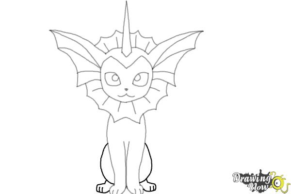 How to Draw Vaporeon From Pokemon - Step 8