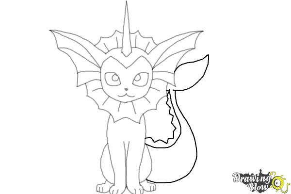 How to Draw Vaporeon From Pokemon - Step 9