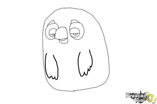 How to Draw Cyrus from the Angry Birds Movie - Step 5