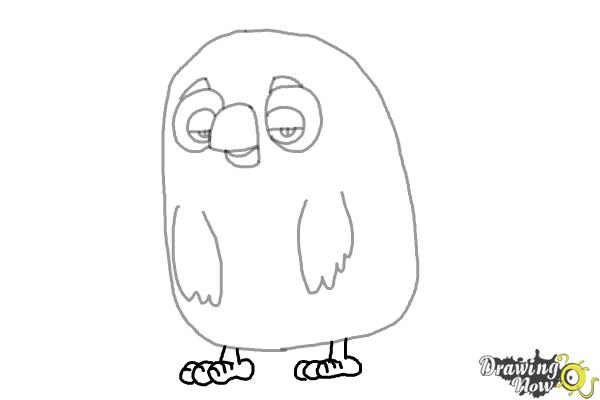 How to Draw Cyrus from the Angry Birds Movie - Step 6