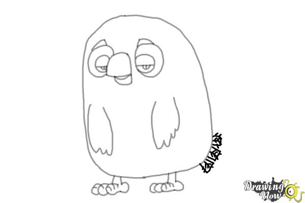 How to Draw Cyrus from the Angry Birds Movie - Step 7