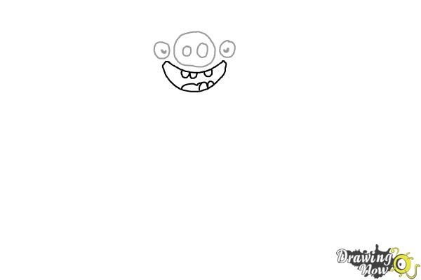 How to Draw Leonard The King Pig from Angry Birds - Step 3