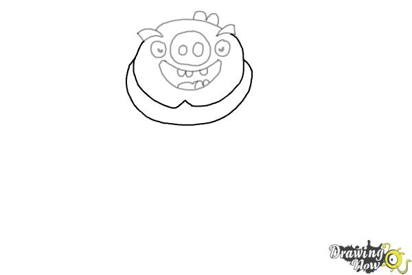 How to Draw Leonard The King Pig from Angry Birds - Step 5