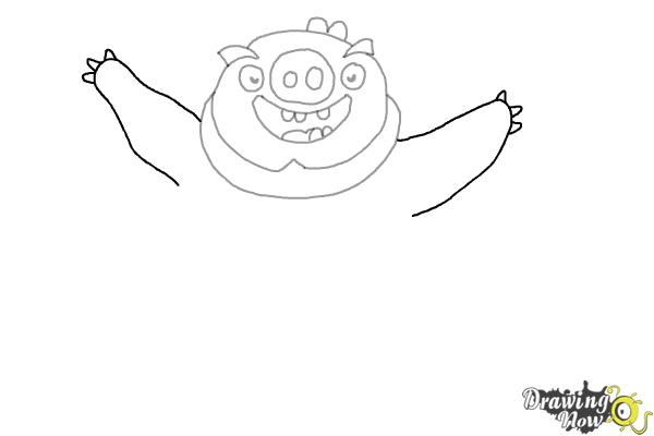 How to Draw Leonard The King Pig from Angry Birds - Step 6