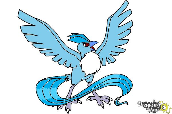 How to Draw Articuno from Pokemon - Step 10