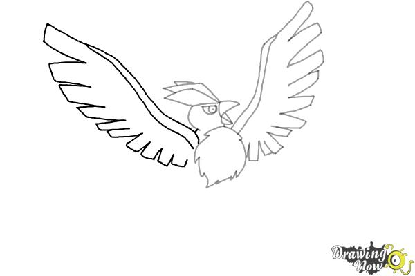 How to Draw Articuno from Pokemon - Step 6