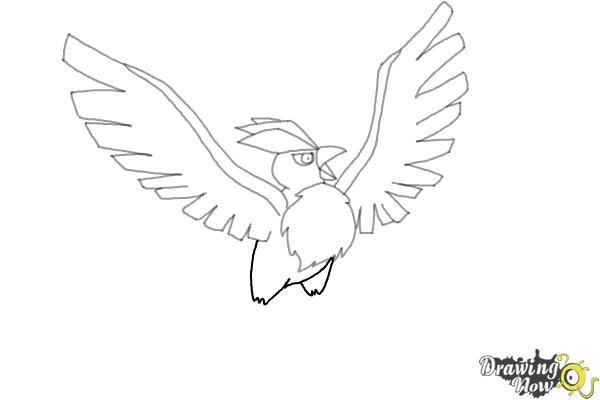 How to Draw Articuno from Pokemon - Step 7
