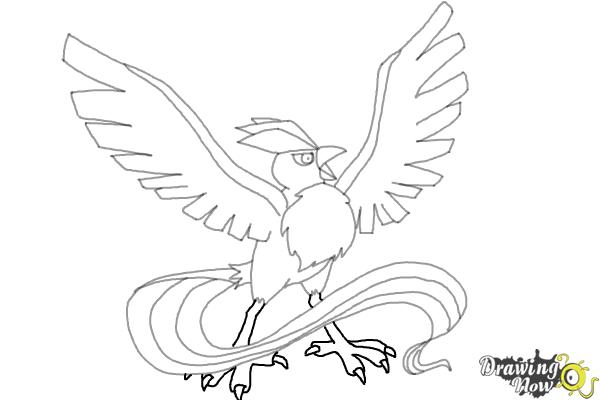 How to Draw Articuno from Pokemon - Step 9