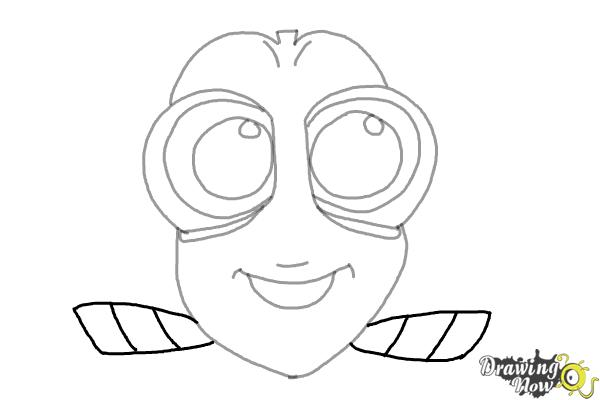 How to Draw Baby Dory From Finding Dory - Step 6