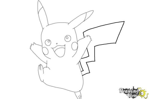 How to Draw Pikachu (Ver 2) - Step 7