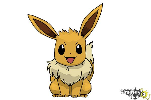 How to Draw Eevee from Pokemon - Step 10