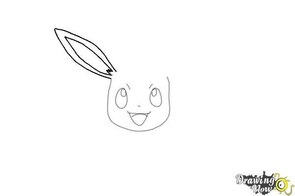How to Draw Eevee from Pokemon - Step 4