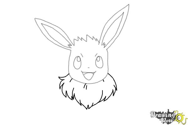How to Draw Eevee from Pokemon - Step 6