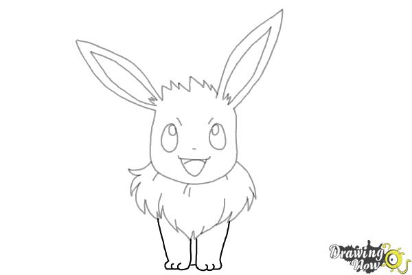 How to Draw Eevee from Pokemon - Step 7