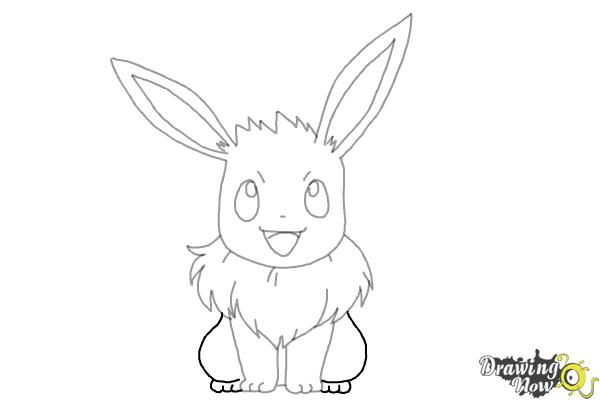 How to Draw Eevee from Pokemon - Step 8