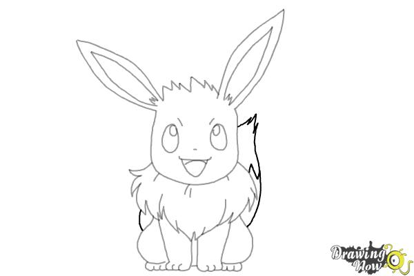 How to Draw Eevee from Pokemon - Step 9