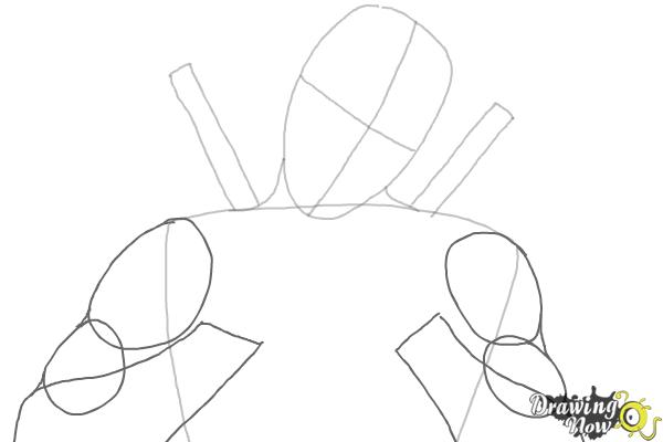 How to Draw Deadpool - Step 3