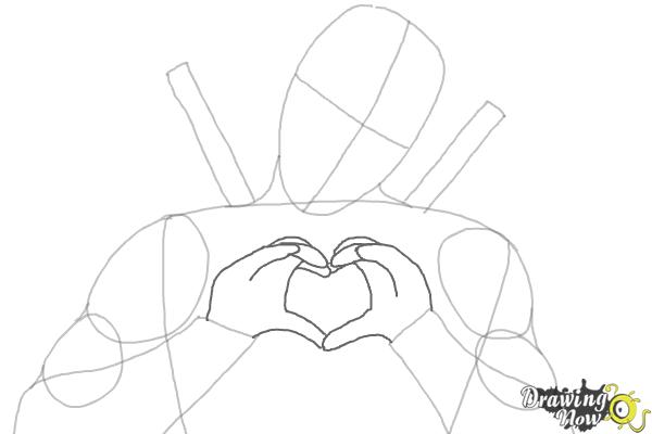 How to Draw Deadpool - Step 4