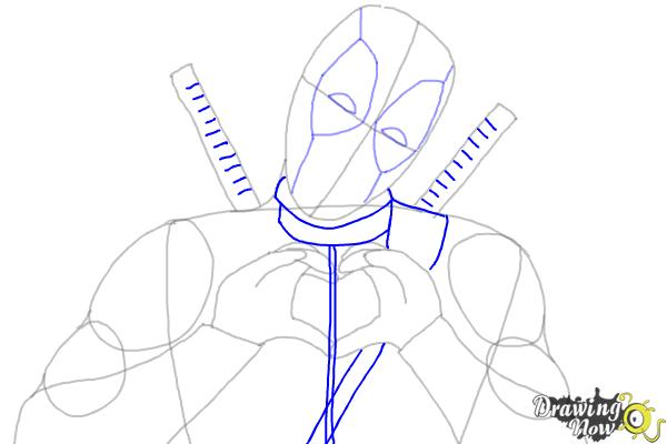 How to Draw Deadpool - Step 6