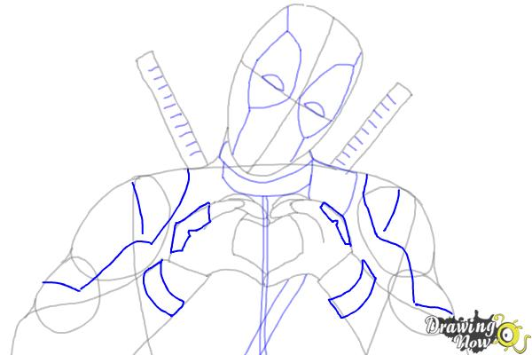 How to Draw Deadpool - Step 7