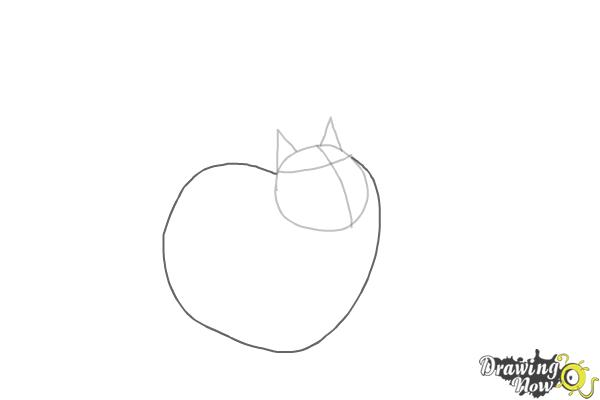How to Draw Cloe from The Secret Life of Pets - Step 3