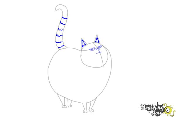 How to Draw Cloe from The Secret Life of Pets - Step 7