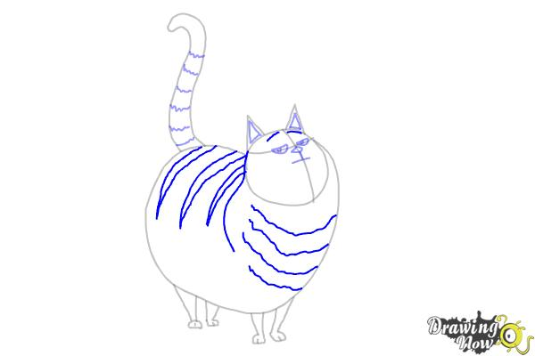 How to Draw Cloe from The Secret Life of Pets - Step 8