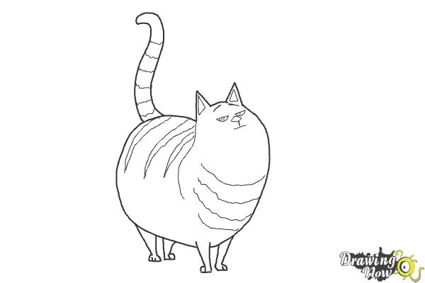 How to Draw Cloe from The Secret Life of Pets - Step 9