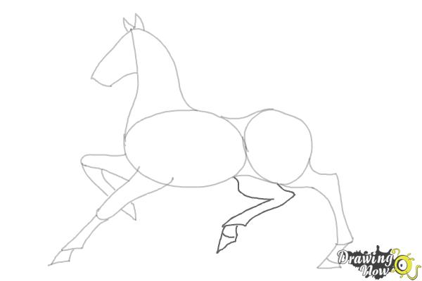 How to Draw a Horse (Ver 2) - Step 7