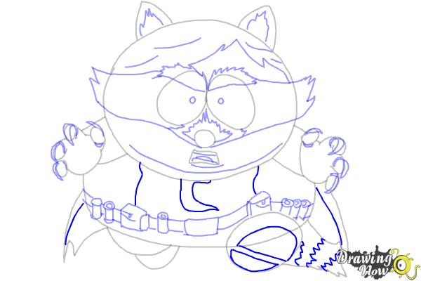 How To Draw Eric Cartman as The Coon - Step 10