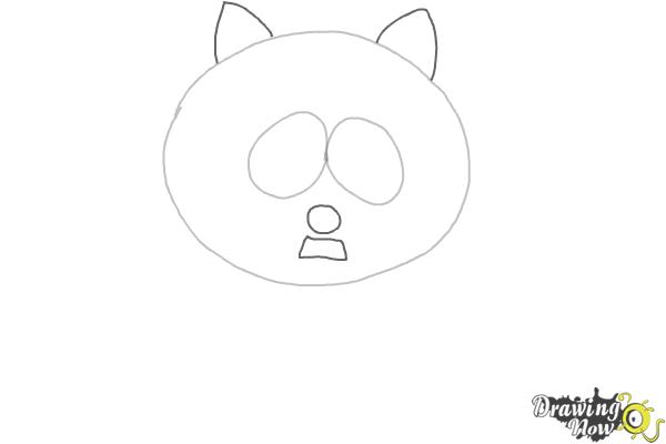 How To Draw Eric Cartman as The Coon - Step 2