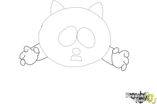 How To Draw Eric Cartman as The Coon - Step 3