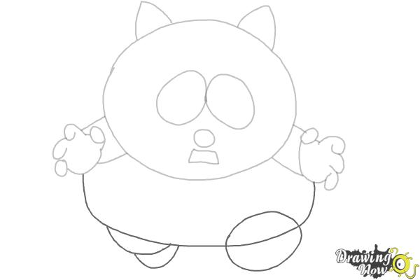 How To Draw Eric Cartman as The Coon - Step 4