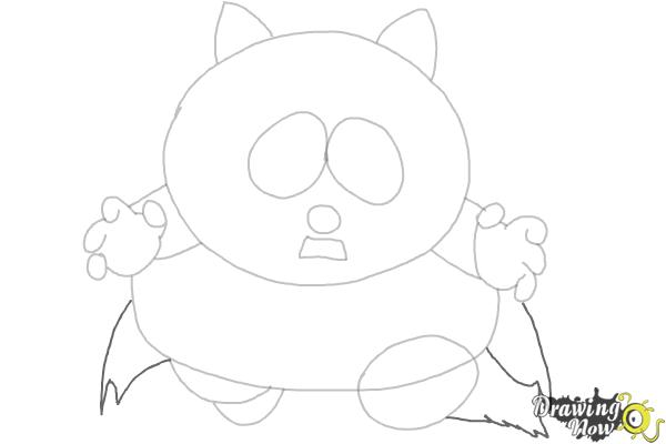 How To Draw Eric Cartman as The Coon - Step 5