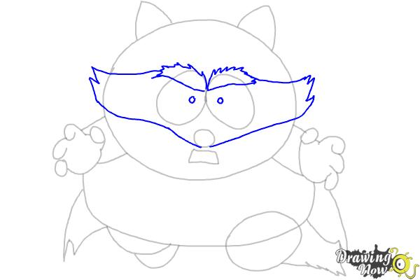 How To Draw Eric Cartman as The Coon - Step 6