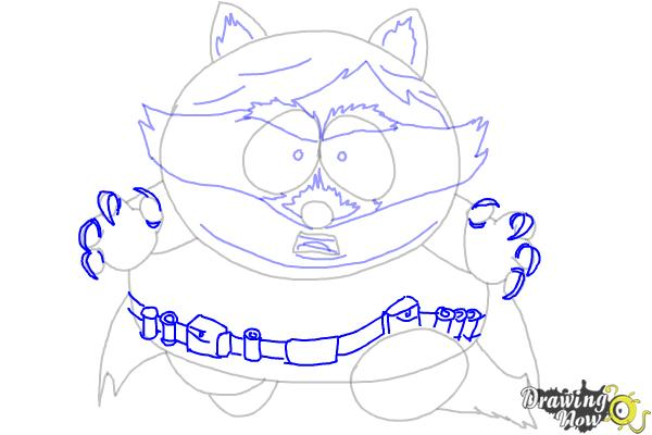 How To Draw Eric Cartman as The Coon - Step 9