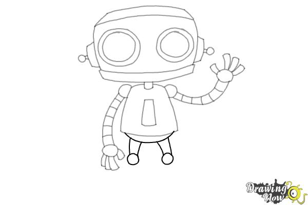 How to Draw a Robot (Ver 2) - Step 8