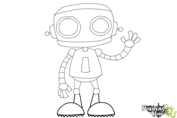 How To Draw A Robot Ver 2 Drawingnow
