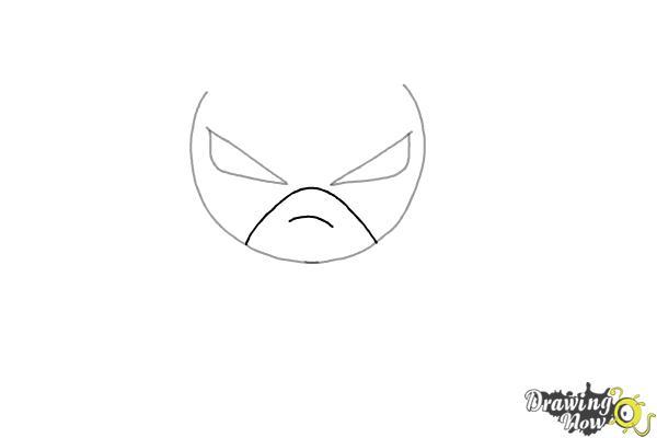How to Draw Chibi Batman - Step 2