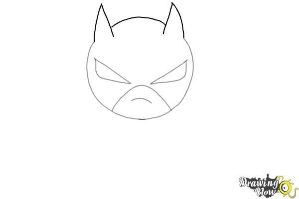 How to Draw Chibi Batman - Step 3