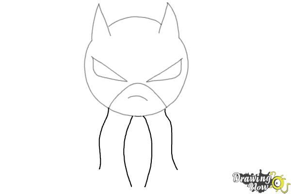 How to Draw Chibi Batman - Step 4