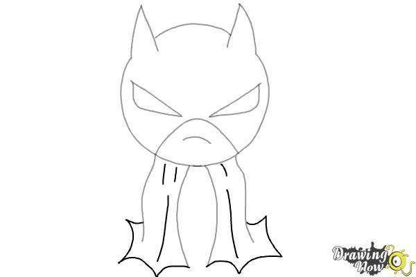 How to Draw Chibi Batman - Step 5
