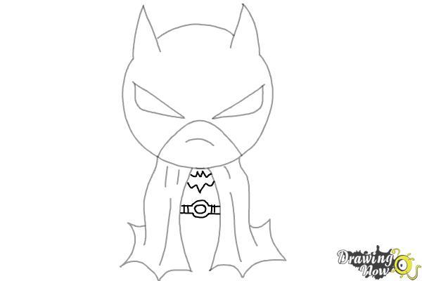 How to Draw Chibi Batman - Step 6