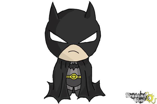 How to Draw Chibi Batman - Step 8