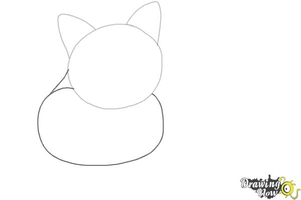 How to Draw a Cat - Step 2